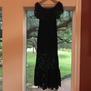 Gianni Bini Size S Black Lace Maxi Dress
